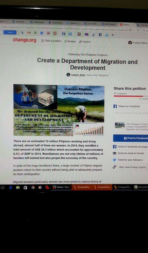 A screen shot of the Petition as shown on change.org