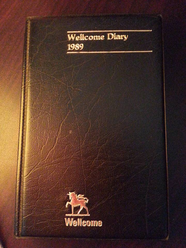 This was the pocket Diary I used then, but dated 1989, the only one available at that time.